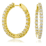 Claw Set Diamond Hoops 1.00ct