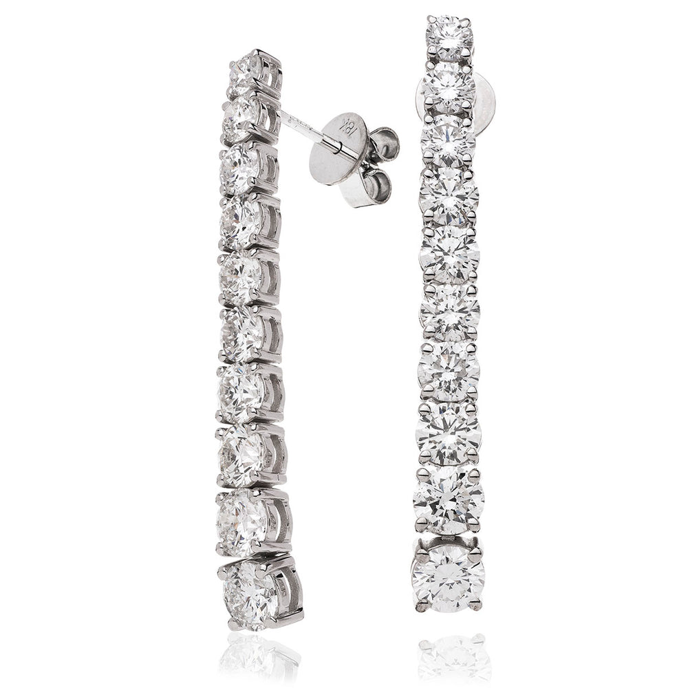 Claw Set Drop Earring 5.25ct