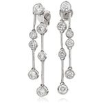 Rubover Drop Earrings 1.40ct