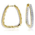 Squared Hoop Earrings 1.50ct