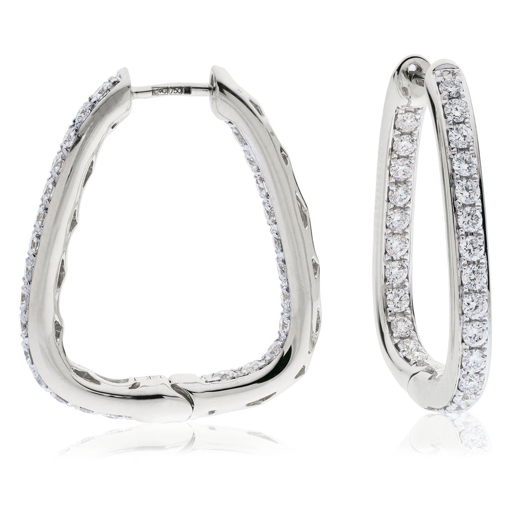 Curved Hoop Earrings 1.00ct