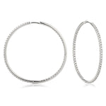 Mico Pave Hoop Earrings 0.90ct