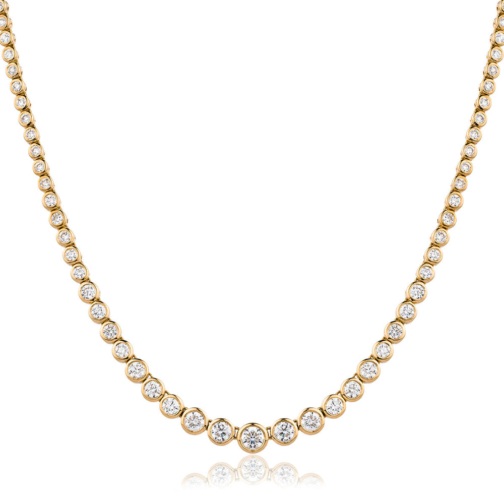 Graduated Diamond Tennis Chain 3.85ct