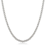 Rubover Set Graduated Tennis Chain 7.80ct