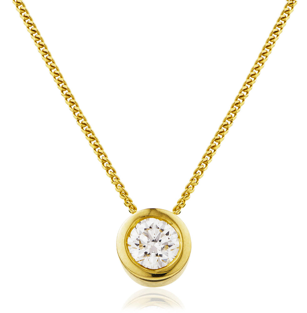 Rubover Set Solitaire Pendant 0.25ct