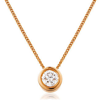 Rubover Set Solitaire Pendant 0.40ct