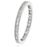 Channel Set Diamond Full Eternity 0.50ct