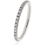Micro Pave Set Eternity Ring 0.30ct