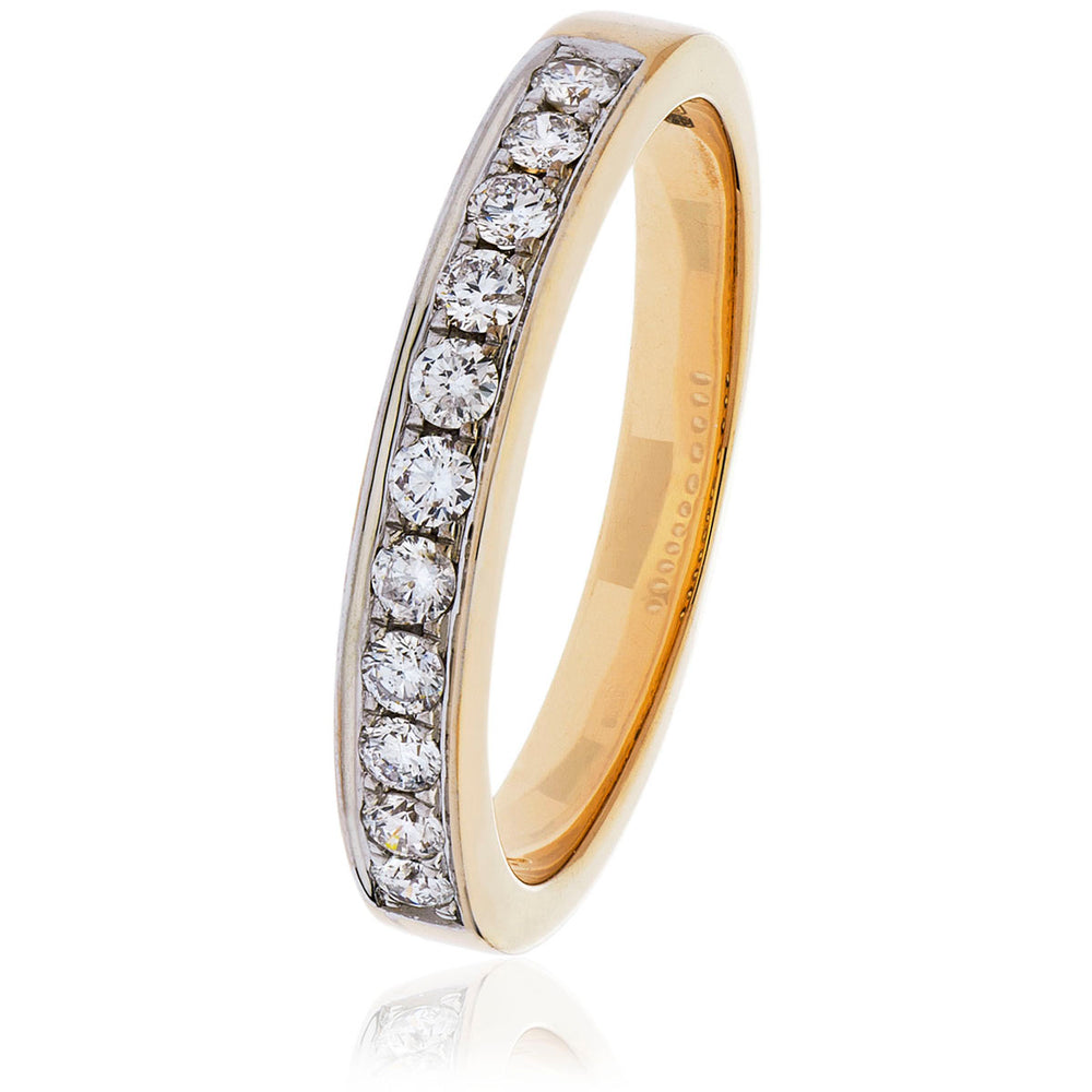 Pavè Set Half Eternity Ring 0.25ct