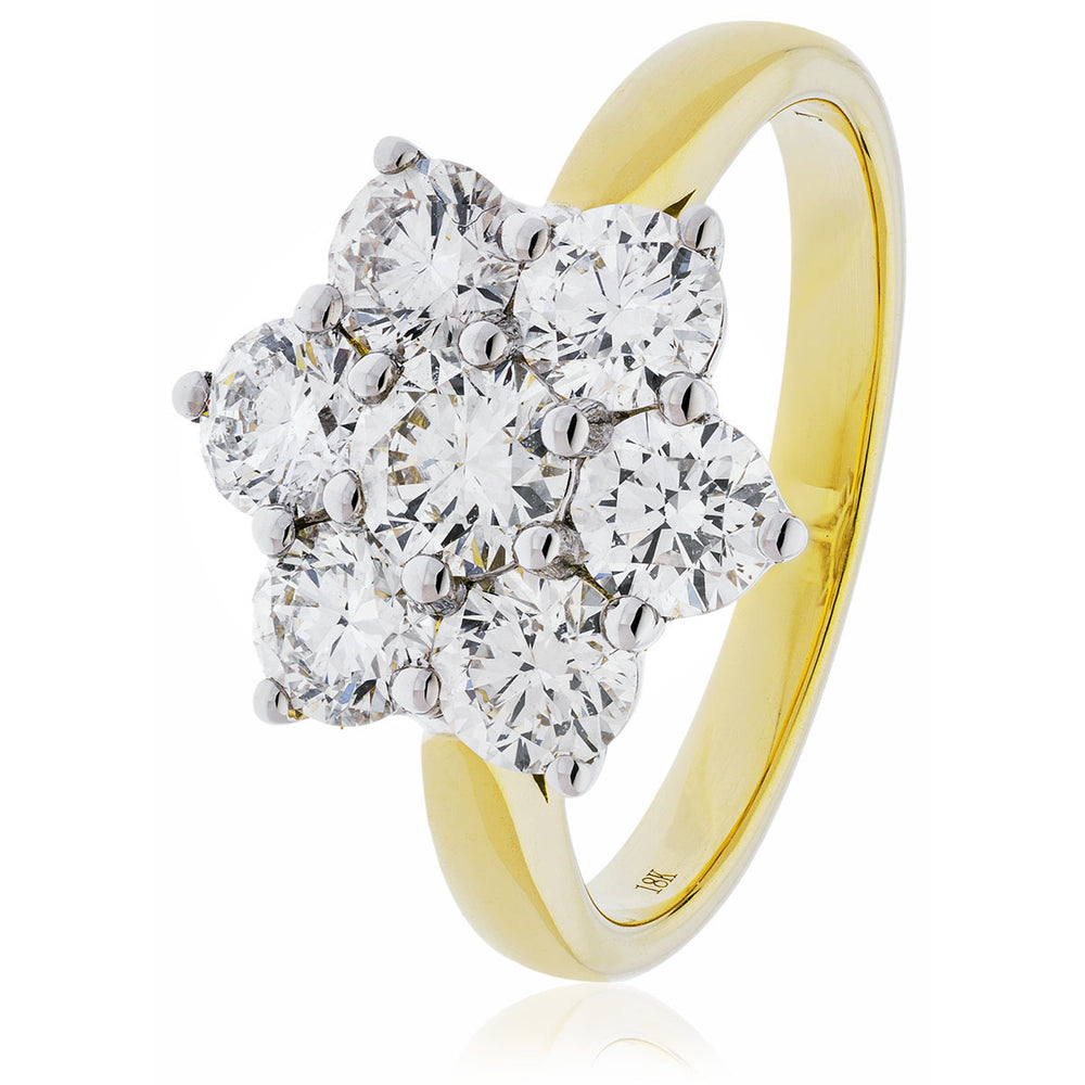 Star Shape Cluster Diamond Ring 3.00ct