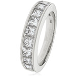 Princess Cut Channel Set Half Eternity Ring 1.50ct