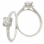 Princess Cut Halo Ring 0.35ct