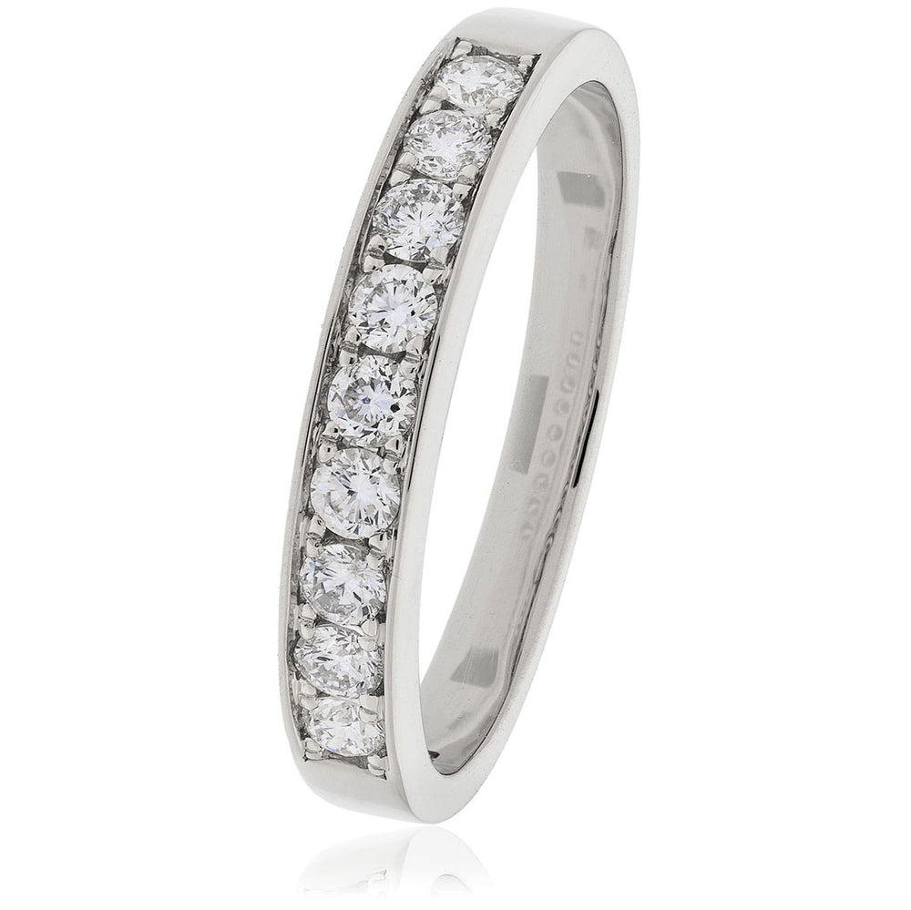 Pavè Set Half Eternity Ring 0.35ct