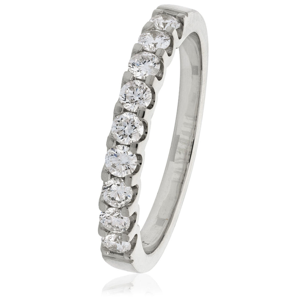 Cushion Shape Shoulder Set Halo Ring 0.85ct