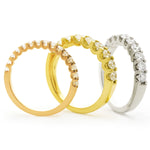 U Setting Half Eternity Ring 1.00ct