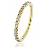 Shared Claw Half Eternity Ring 0.25ct