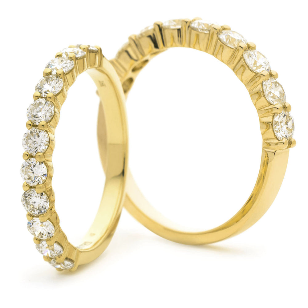 Shared Claw Half Eternity Ring 0.75ct