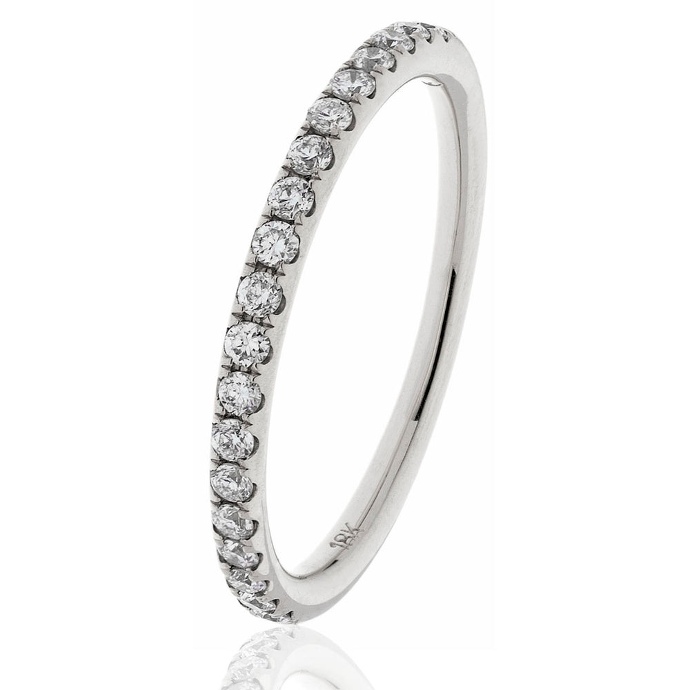 Shared Claw Half Eternity Ring 0.45ct