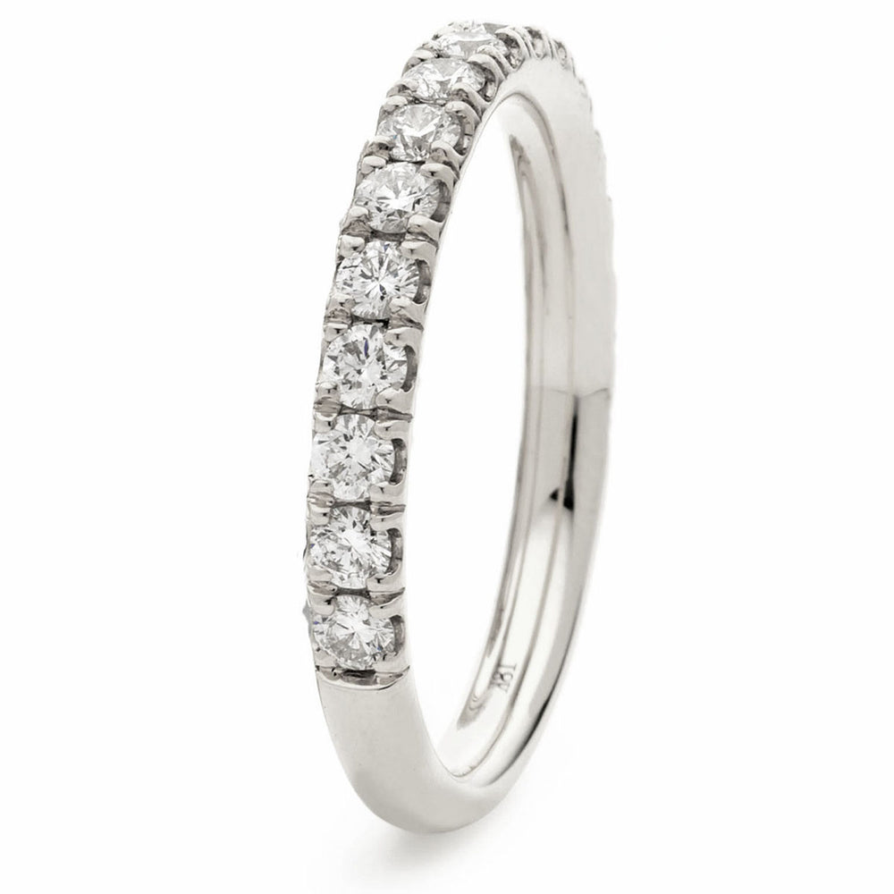 Claw Setting Half Eternity Ring 0.17ct
