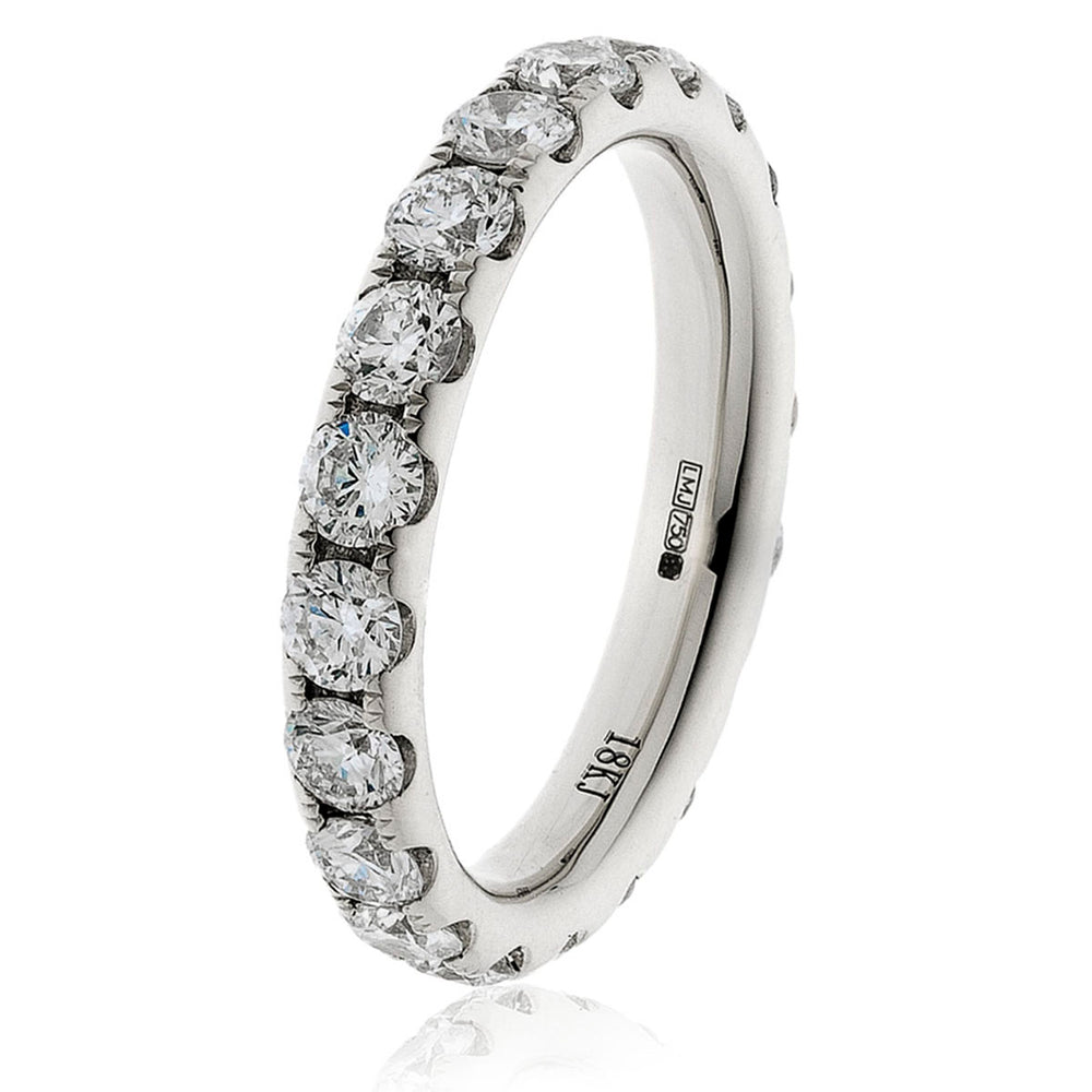 Split Claw Round Diamond Full Eternity Ring 4.11ct
