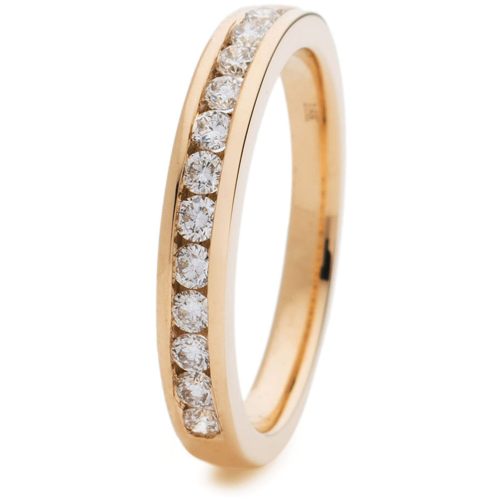 Channel Set Half Eternity Ring 0.33ct