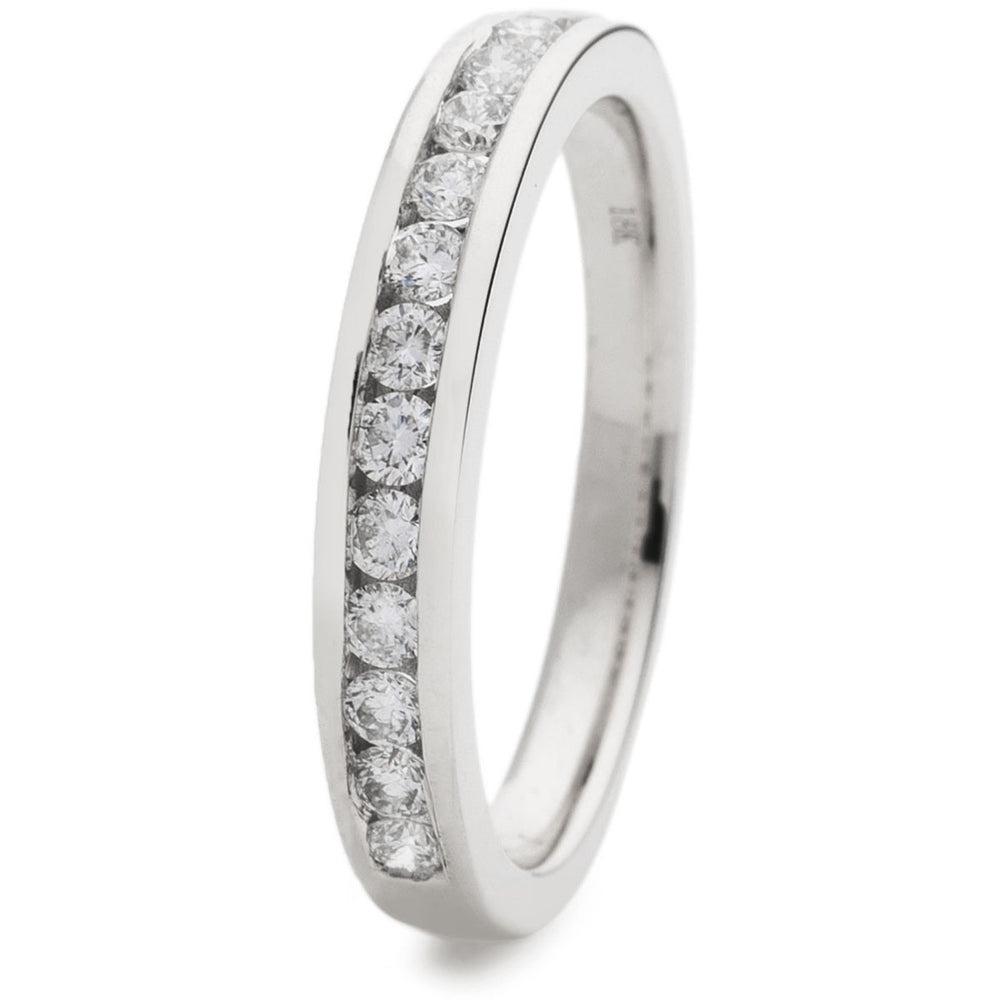 Channel Set Half Eternity Ring 0.40ct