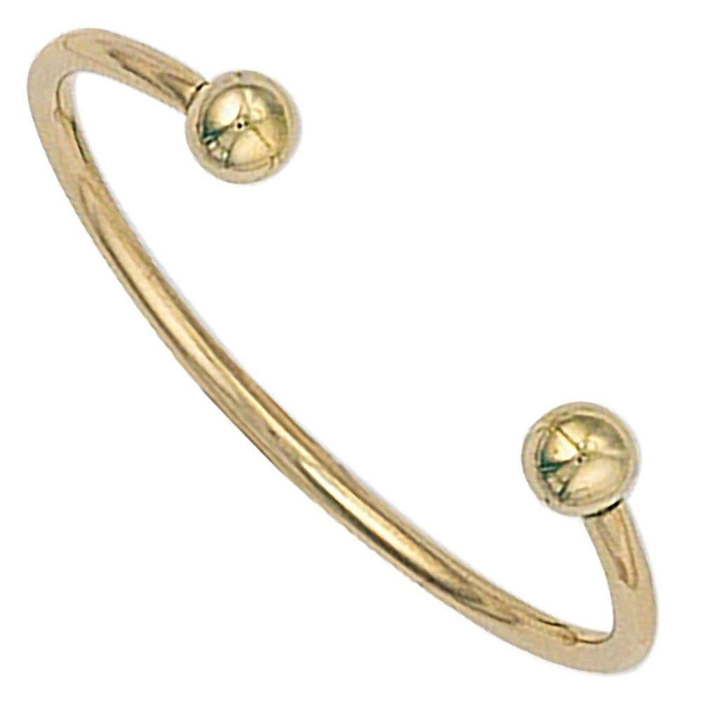 9ct Yellow Gold Solid Baby Torque Bangle