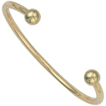 9ct Yellow Gold Solid 3.5mm Torque Bangle
