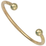 9ct Yellow Gold Solid 4mm Torque Bangle