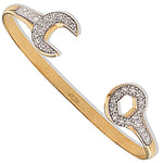 9ct Yellow Gold Baby Cubic Zirconia Spanner Bangle