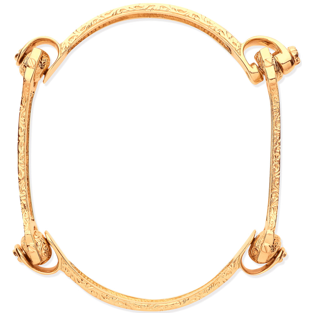 9ct Yellow Gold 4 Piece Bone Bangle