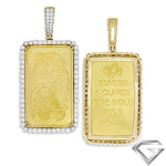14K Yellow Gold 3.50ctw Diamond Bezel With 1Oz Pamp