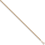 9ct Yellow Gold Italian Style Traditional Rope Chain (Hollow)