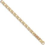9ct Yellow Gold Flat Byzantine Chain