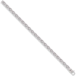 9ct White Gold Flat Byzantine Chain