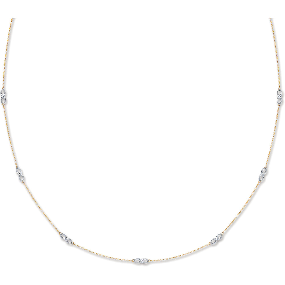 9ct White and Yellow Gold Eternity Chain