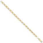 9ct Yellow Gold Plain & Engraved Round Belcher Chain