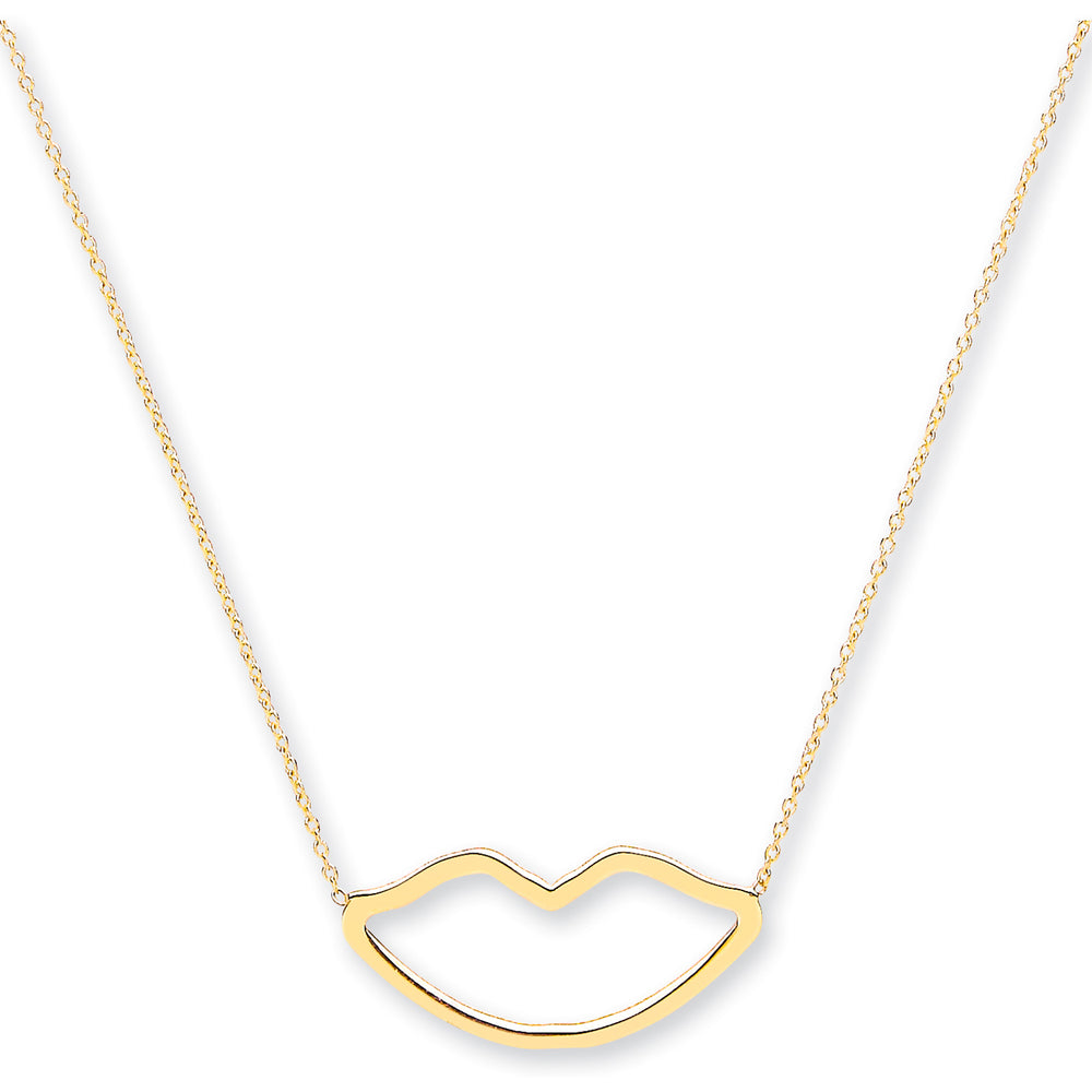 9ct Yellow Gold Rolo Chain With Lips, Adjustable Lengths