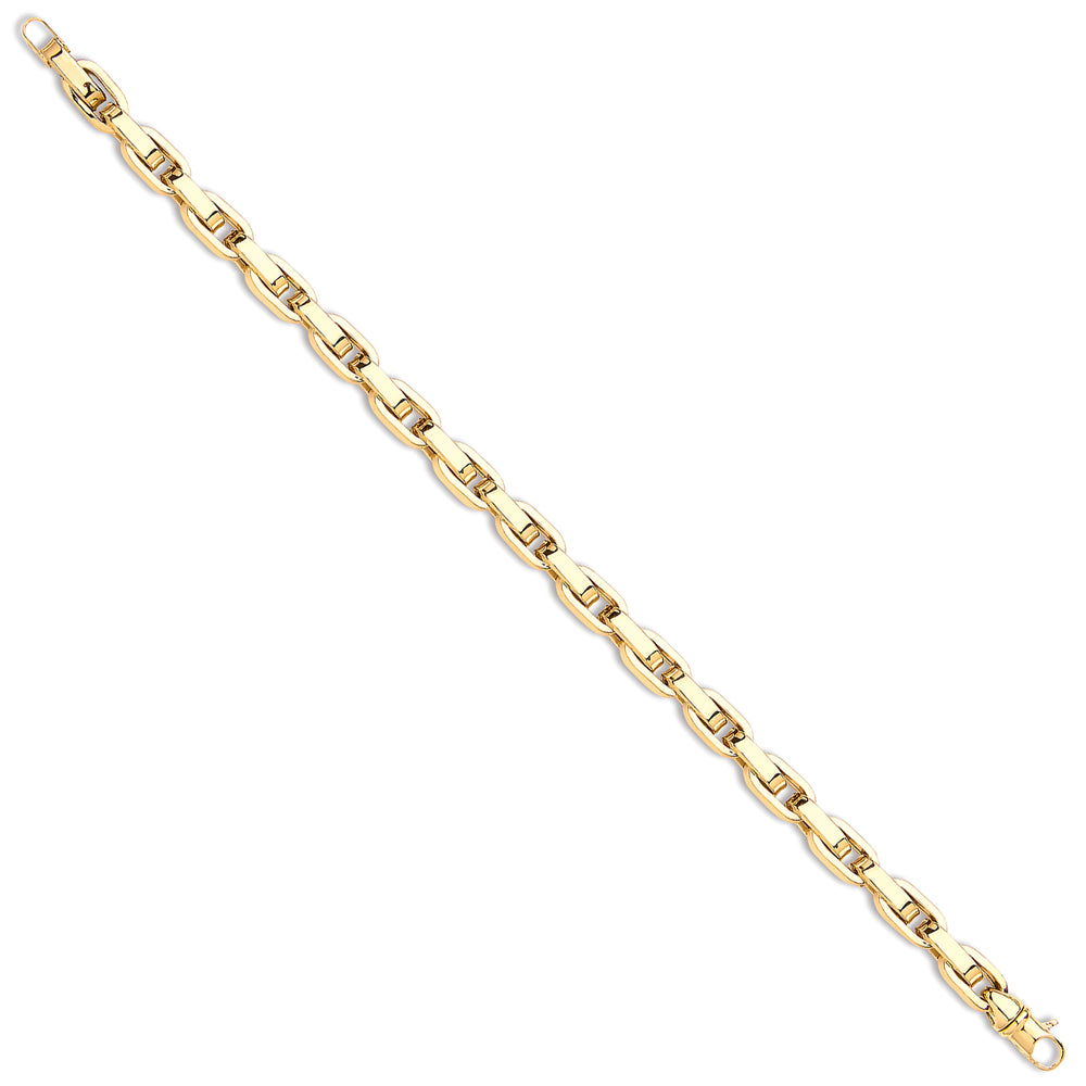 9ct Yellow Gold Hollow Flat Link Oval Belcher Chain