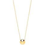 "9ct Yellow Gold Cone Spike Pendant on 16""/18"" Chain"