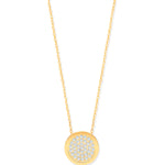 "9ct Yellow Gold Full Circle CZ (Cubic Zirconia) Pendant 17"" Chain"