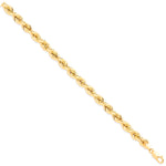 9ct Yellow Gold Italian Style Hollow Rope Chain (9.0mm)