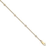 18ct Yellow Gold 0.20ct Diamond Rubover Bracelet