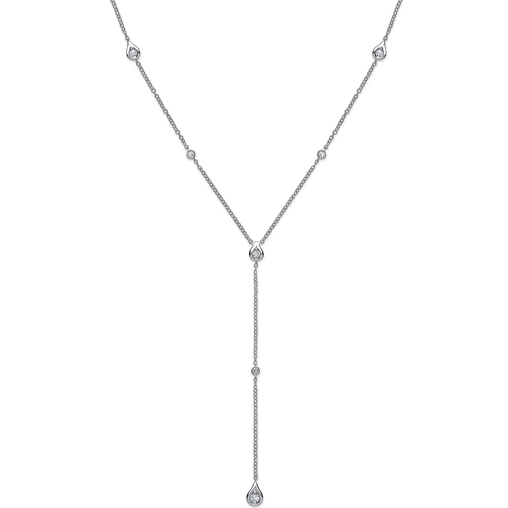 18ct White Gold Necklet 0.35ct Diamond