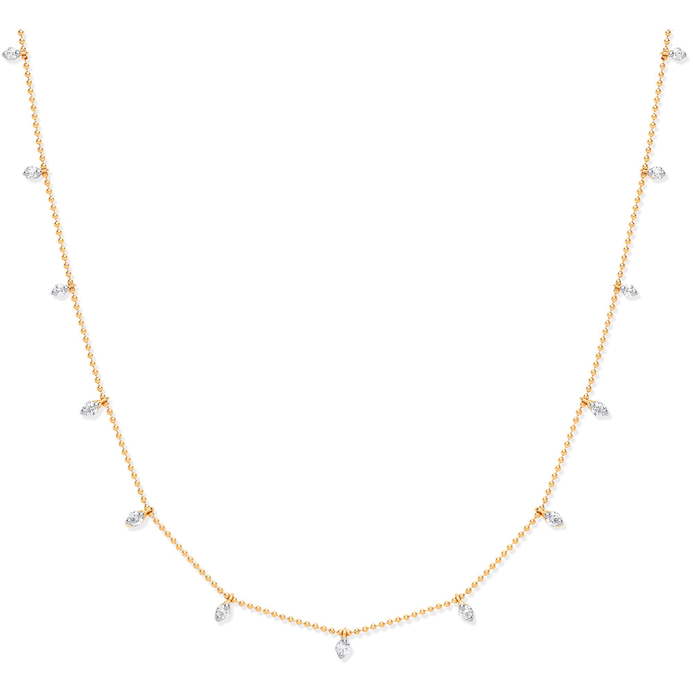 18ct Yellow Gold 0.50ctw Diamond Set Chain
