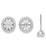 18ct White Gold 0.70ct Diamond Studs Earrings