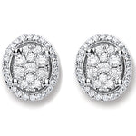 18ct White Gold 0.25ct Diamond Stud Earrings