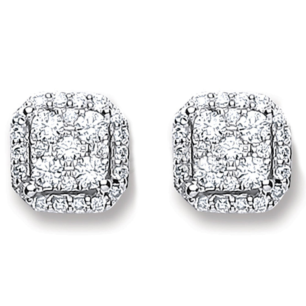 18ct White Gold 0.22ct Diamond Stud Earrings