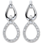 9ct White Gold 0.25ct Diamond Drop Earrings