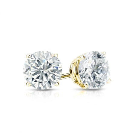 18ct Yellow Gold 0.50ct Claw Set Diamond Stud Earrings